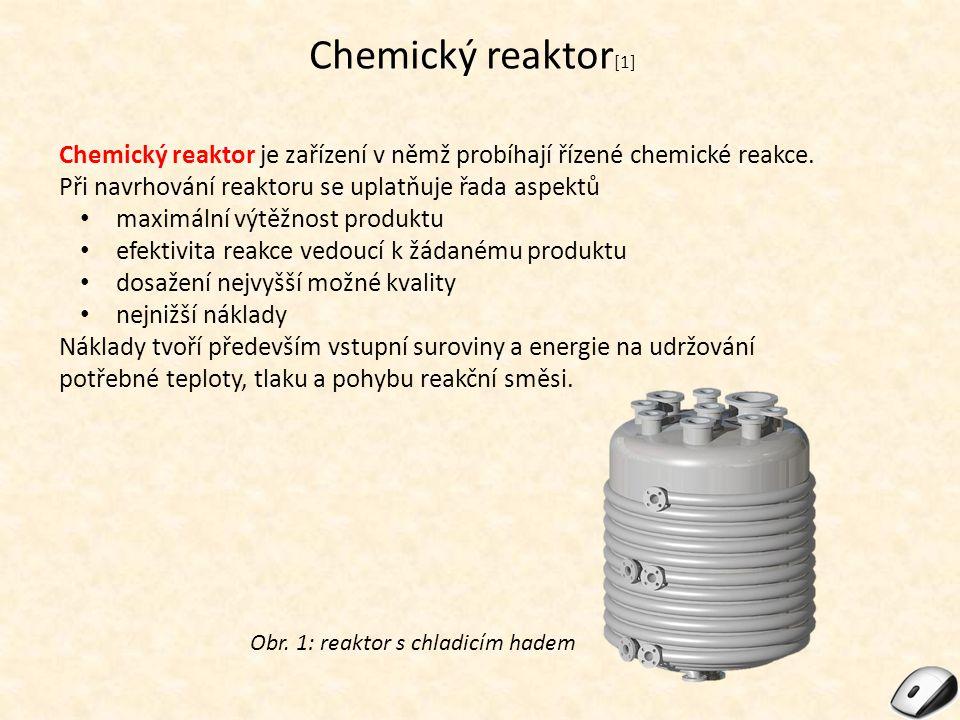 Chemický reaktor[1] Chemický reaktor je zařízení v němž probíhají řízené chemické reakce. Při navrhování reaktoru se uplatňuje řada aspektů.